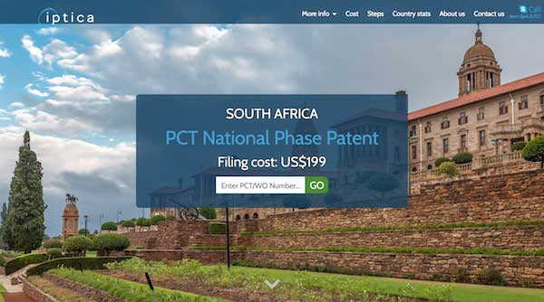 Go to South Africa Patent